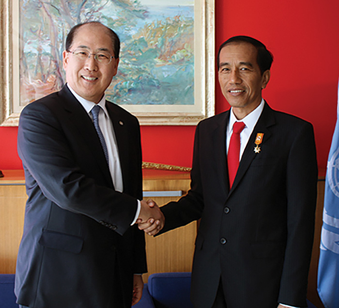 President of Indonesia, Joko Widodo at IMO Headquarter 2016